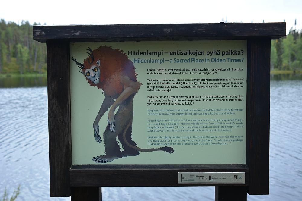 Wandelen in Finland Nationaal Park Oulanka Hidden Hurmos Trail infobordje