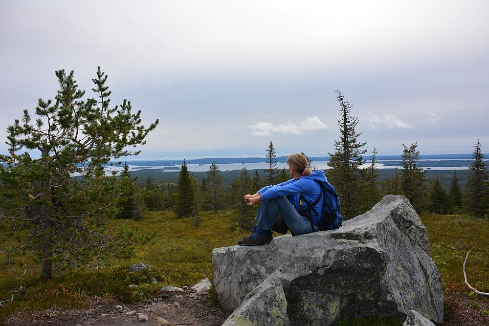 Wandelen in Riisuntunturi Nationaal Park, uitzicht vanaf Riisin Rääpasy