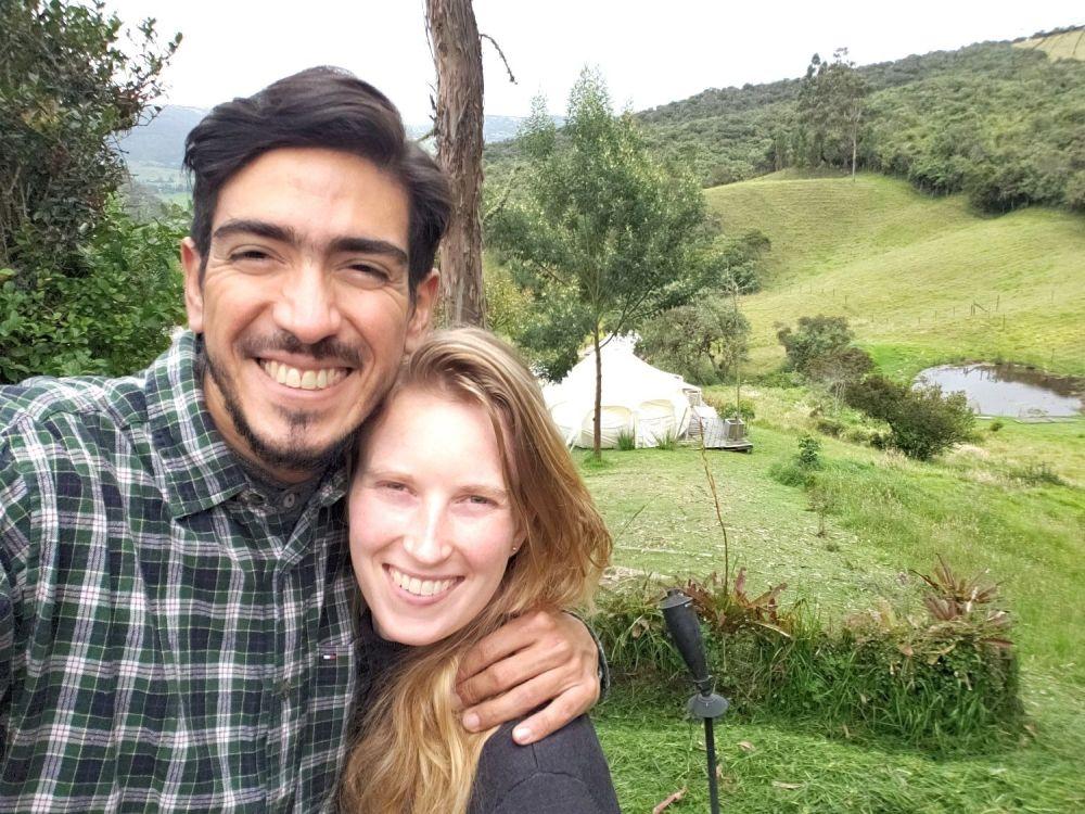 Wonen in Colombia, Sabine met haar man Jimmy