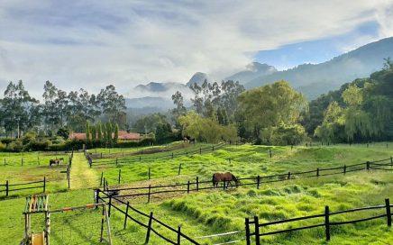 Wonen in Colombia uitzicht vanaf ons balkon