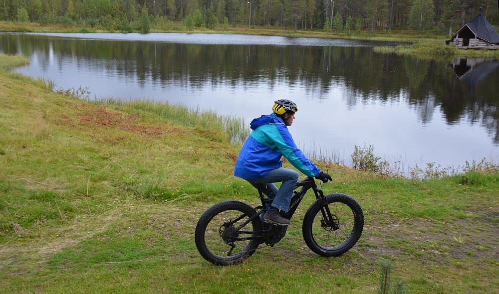 elektrische mountainbike skipiste Salla Finland