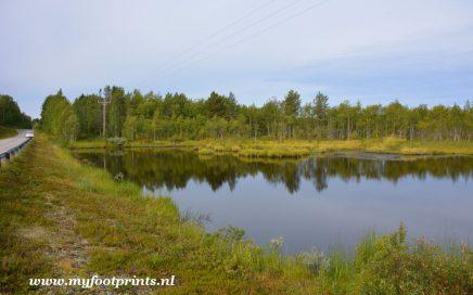foto van de maand aug 2018 meer in Fins Lapland