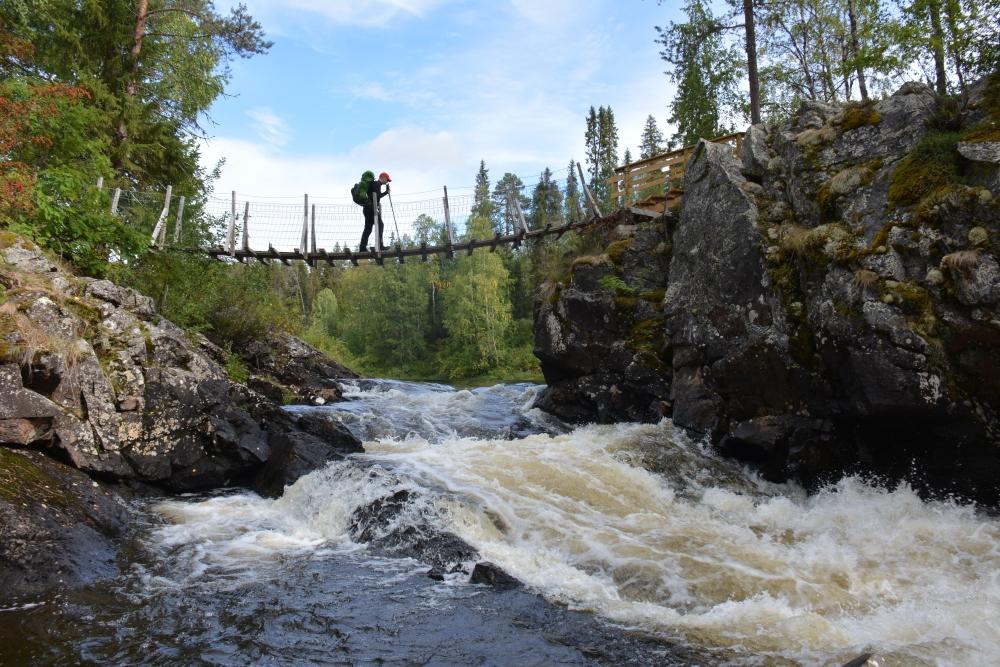 kanotocht op de Oulanka rivier, Taivalköngäs