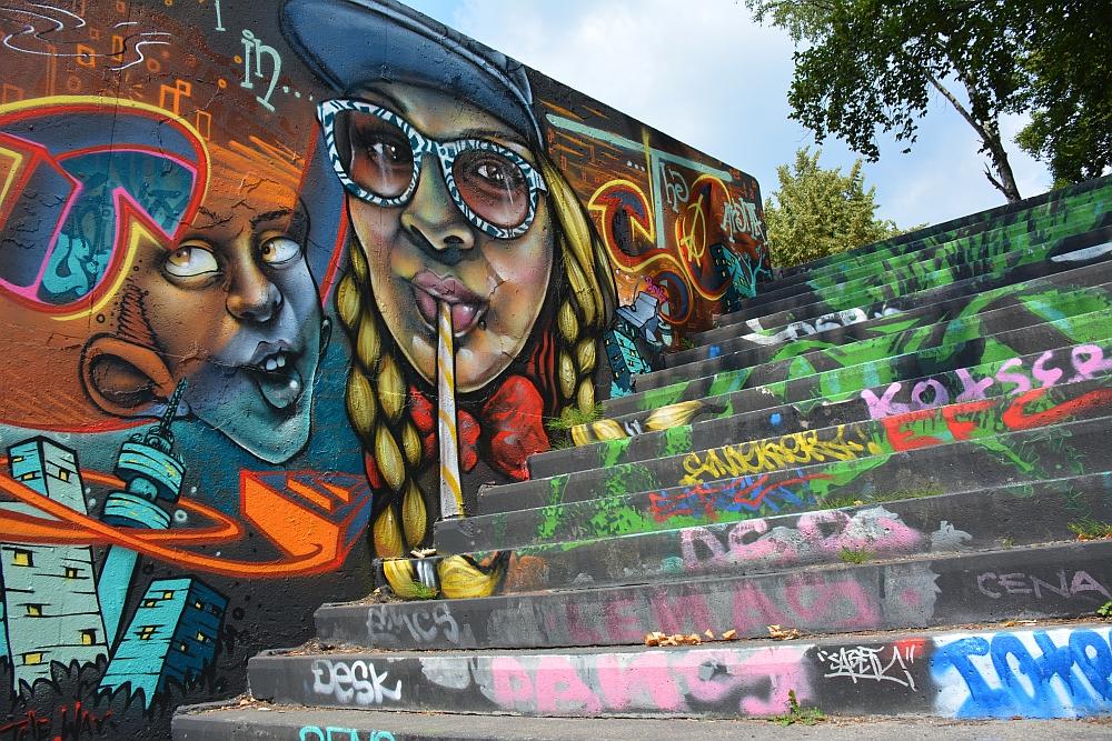 streetart in Eindhoven Berenkuil trap