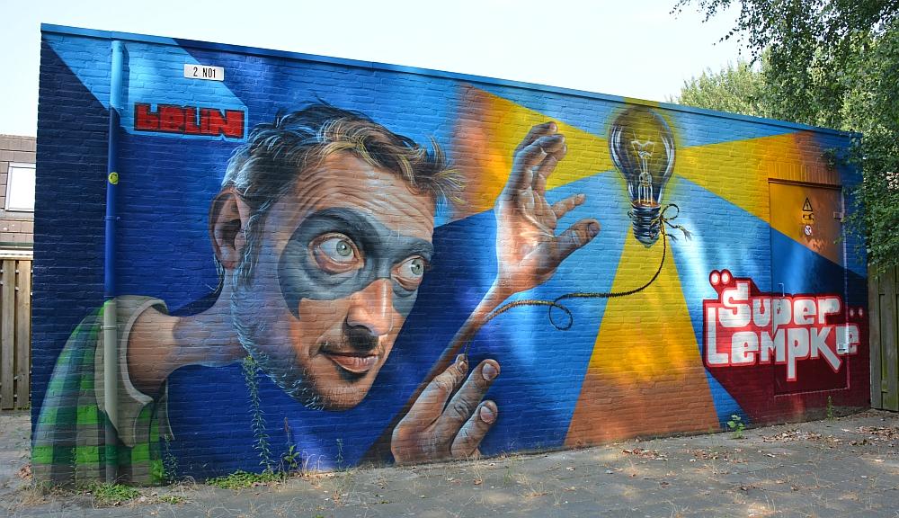 streetart in Eindhoven Super lempke Roffart
