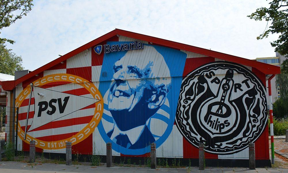 streetart in Eindhoven bij PSV stadion