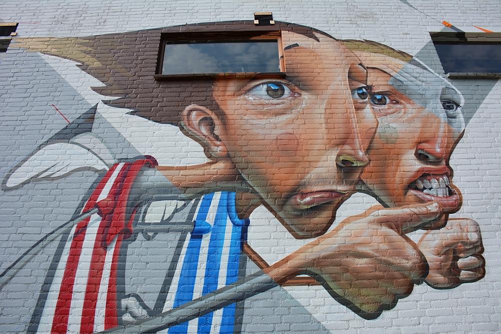 streetart in Eindhoven Grafysch lyceum Karel de Grotelaan