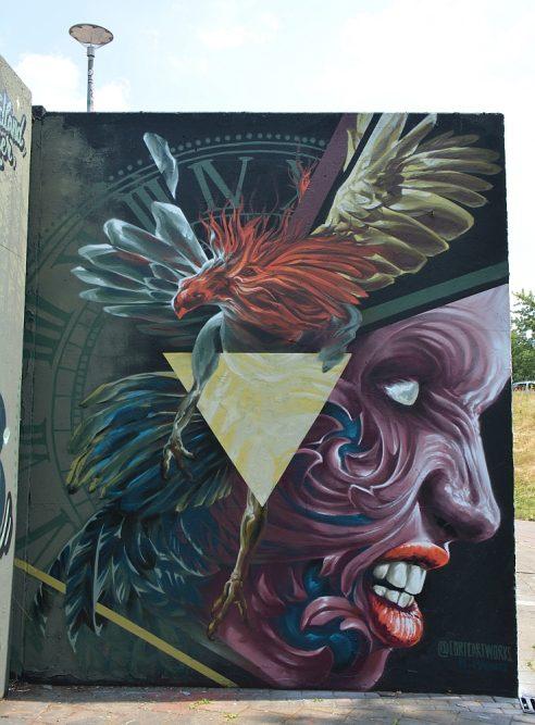 streetart in Eindhoven stuk in de Berenkuil