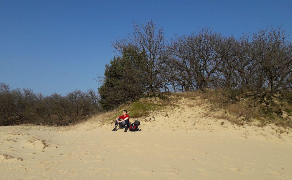 wandelen in de Loonse en Drunense duinen even relaxen in het zonnetje