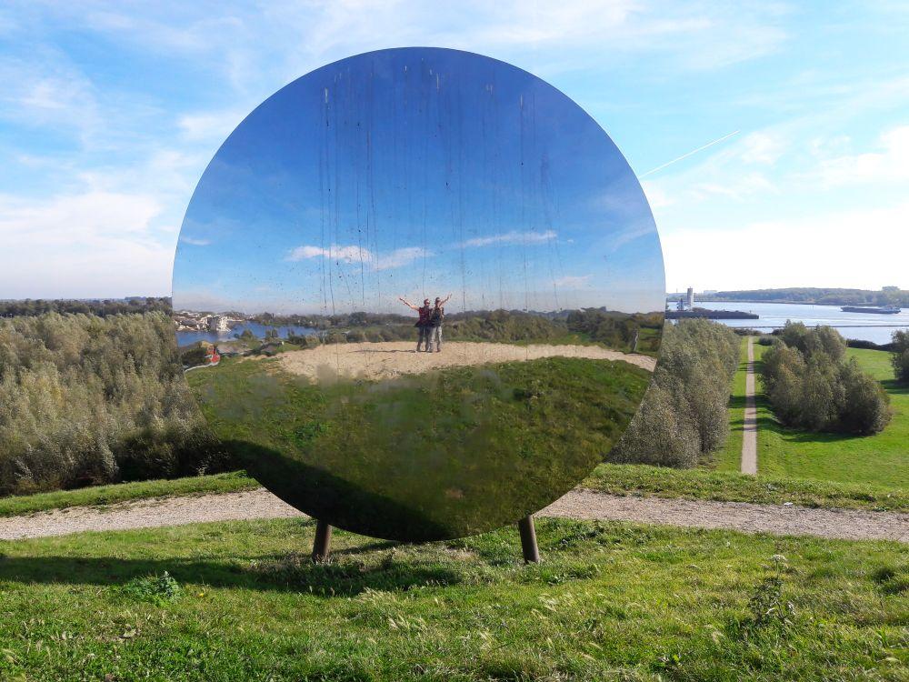 Maas en Vestingroute IJsselmonde.sky, moon, mirror, environmen Gaatkensbult Barendrecht