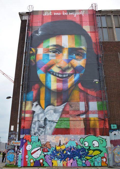 Street Art in Amsterdam NSDM Werf Anne Frank