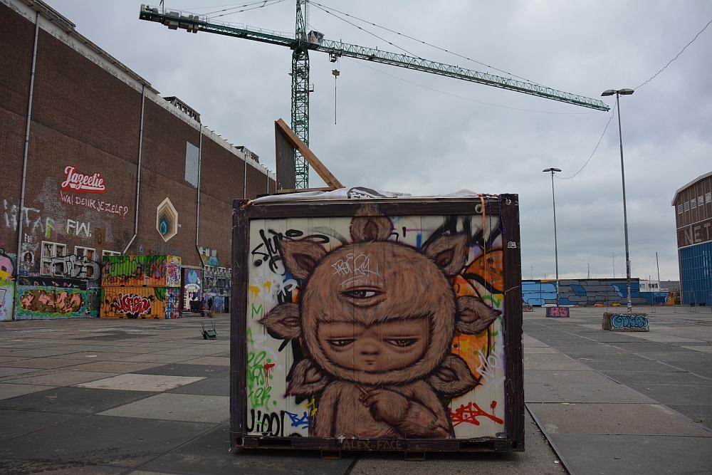 Street Art in Amsterdam NSDM Werf op de rand van de sloop
