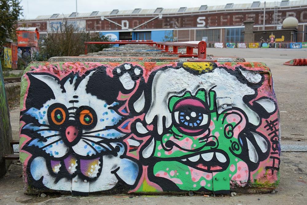 Street Art in Amsterdam NSDM Werf hellingbanen