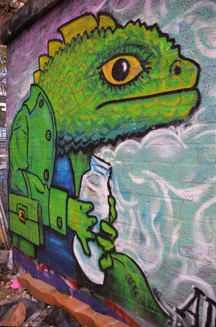 Street Art in Amsterdam de NSDM Werf