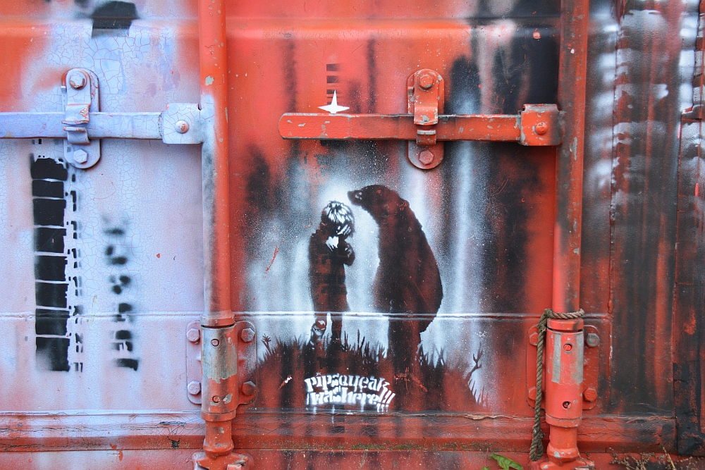 Street Art in Amsterdam detail NSDM Werf