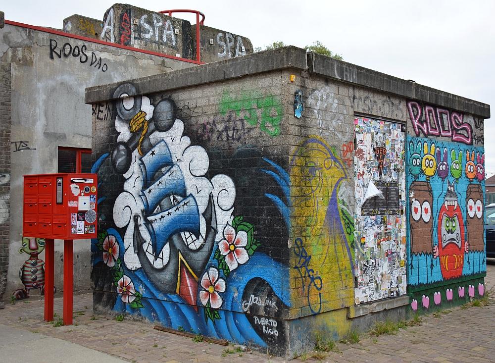 Street Art in Amsterdam op de NSDM Werf