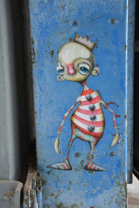 klein stuk Street Art in Amsterdam NSDM Werf