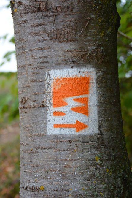 markering Traumpfad Eltzer Burgpanorama naar Burg Eltz