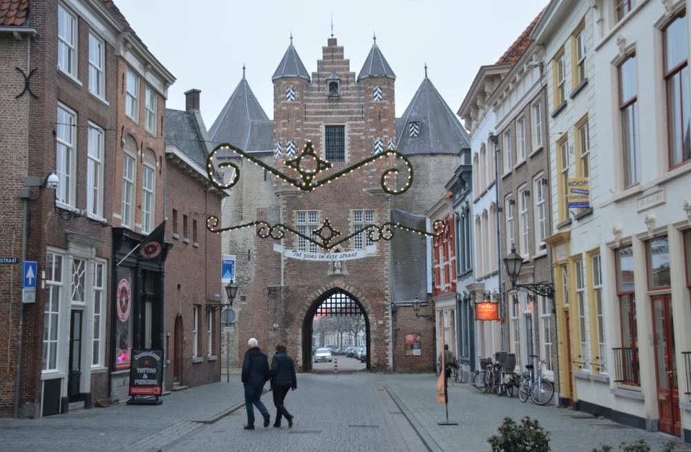 Zuiderwaterlinie wandelpad Gevangenpoort Bergen op Zoom