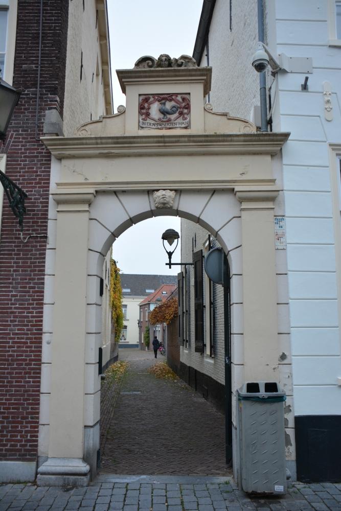 Zuiderwaterlinie wandelpad mooi detail binnenstad Bergen op Zoom