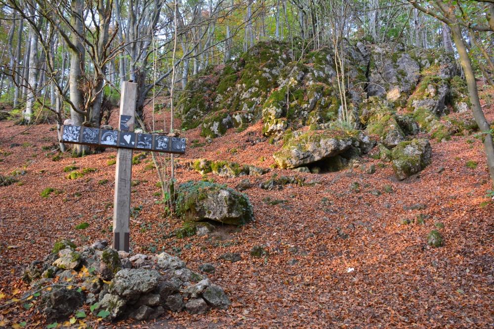 etappe van de Eifelsteig Gerolsteiner Dolomieten