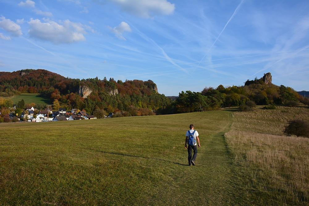 etappe van de Eifelsteig aanloop naar Gerolsteiner Dolomieten