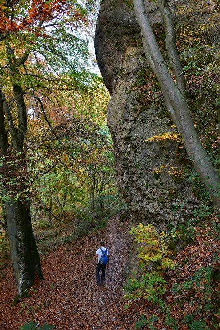 etappe van de Eifelsteig wandelen in de Gerolsteiner Dolomieten