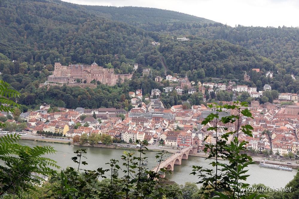 De mooiste plekken van Duitsland uitzicht op Heidelberg