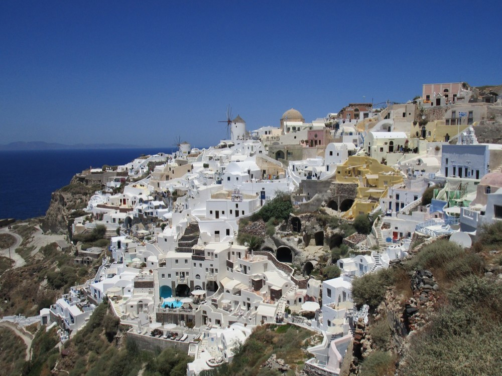 Leukste Europese eilanden Santorini foto denise