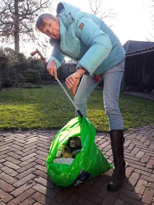 afval rapen eerste keer als ZAPper de trotse buit