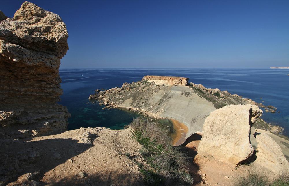 leukste Europese eilanden hike-vanaf-Golden-Bay Malta