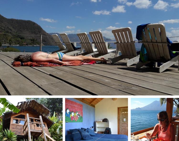 Door Guatemala backpacken Hotel Isla Verde meer van Atitlan