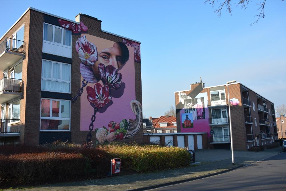 Street Art Heerlen Gaia Oude Kerkstraat