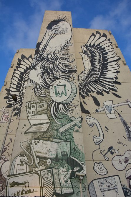 Street Art Heerlen Heron langs het spoor