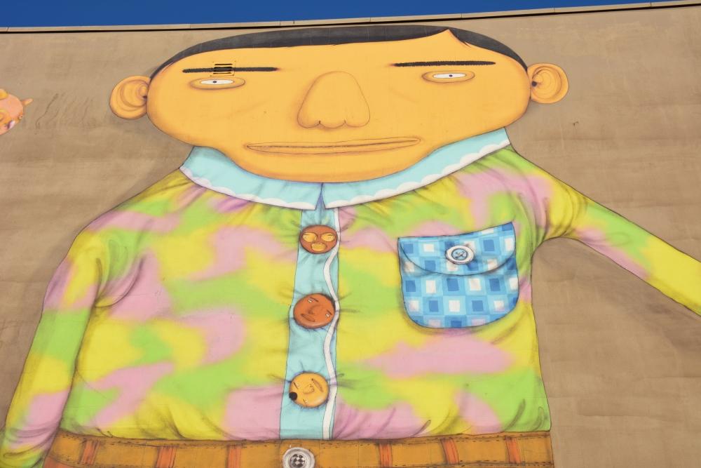 Street Art Heerlen Létranger van Os Gemeos detail