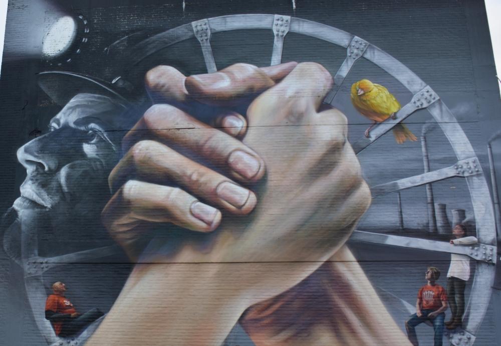 Street Art Heerlen Ode aan de arbeider