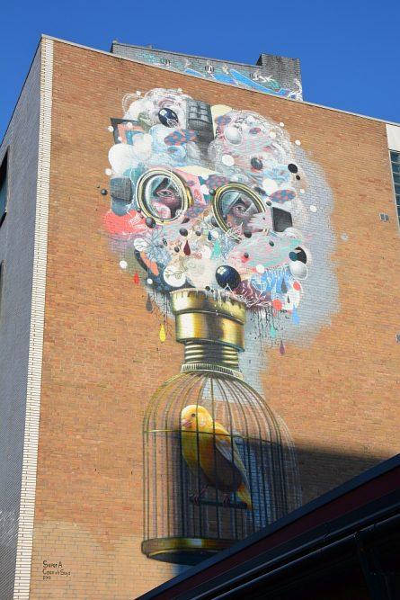 Street Art Heerlen kanariepiet Super A en Collin van der Sluijs