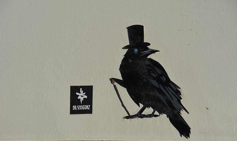 Street Art Heerlen kraai