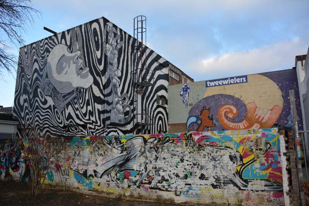 Street Art Heerlen parkeerplek