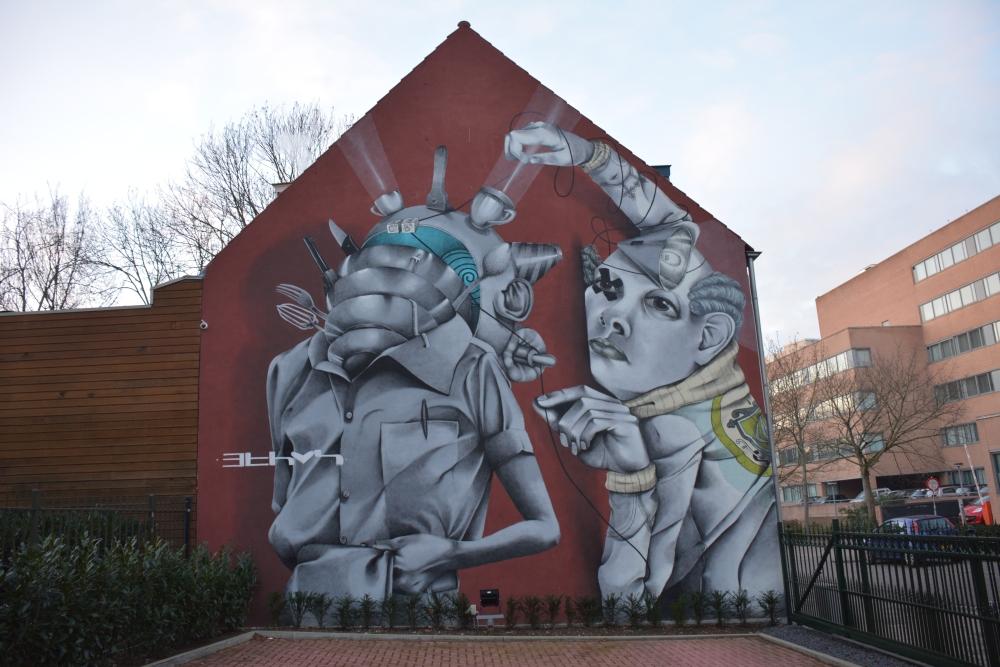 Street Art Heerlen van Claudio Ethos