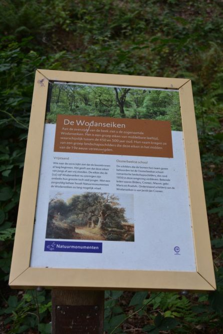 Wandelen bij Wolfheze informatiebord Wodanseiken