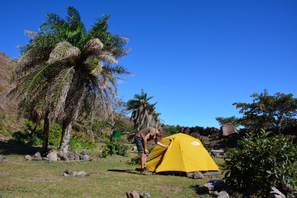 camping hike op de Telica vulkaan Nicaragua