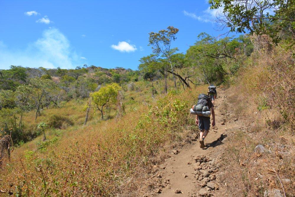 hike op de Telica vulkaan in Nicaragua