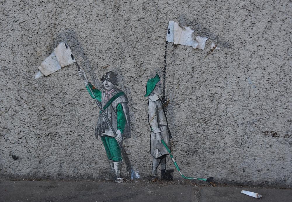 klein stuk Street Art in Heerlen