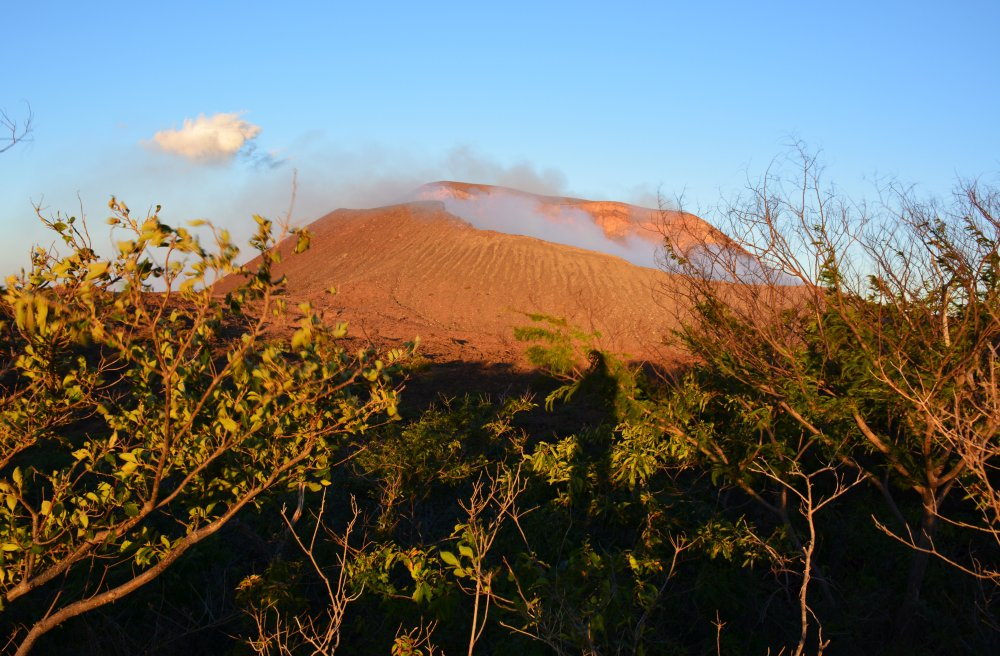 uitzicht op de Telica vulkaan Nicaragua