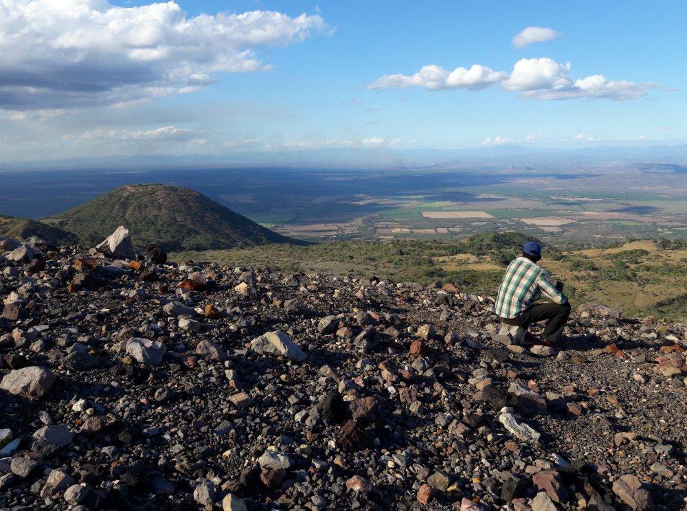uitzicht vanaf de Telica vulkaan Nicaragua
