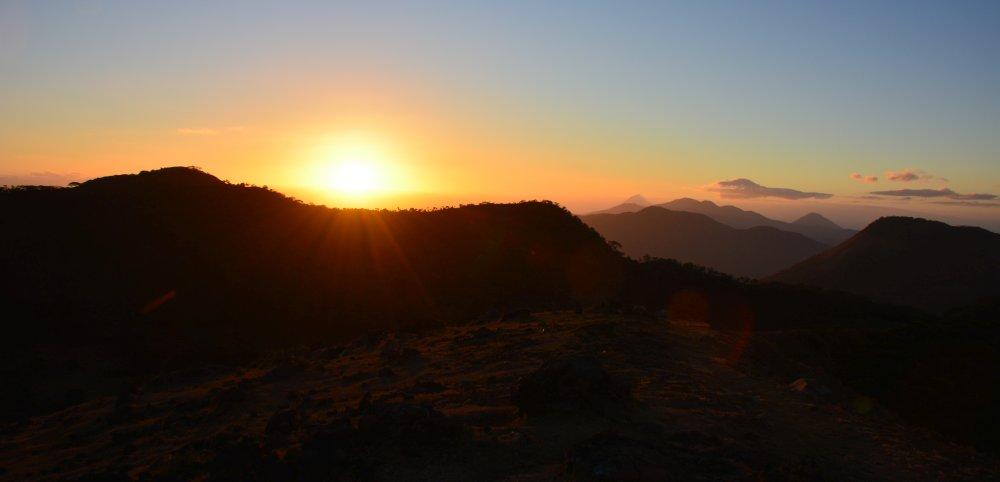 zonsopkomst hike op de Telica vulkaan Nicaragua