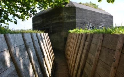 Fietsen Utrechtse heuvelrug Museumbunker Grebbelinie Leusden
