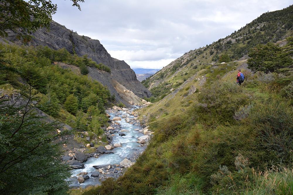 Hike naar de Torres in Torres del Paine Chileens Patagonië