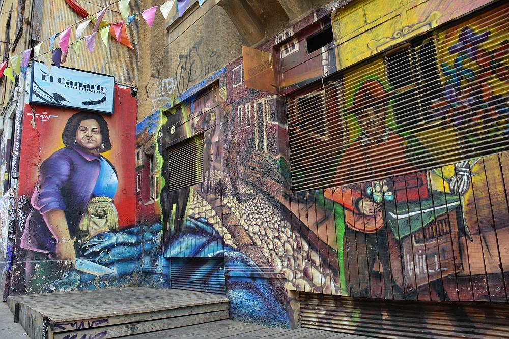 Street art at Valparaiso